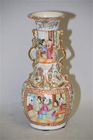 19th C. Chinese Porcelain Famille Rose Medallion Vase