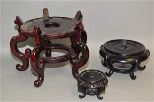 Group of Chinese Wood Carved Stands