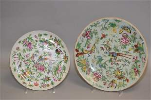 Two 19th C. Chinese Porcelain Famille Rose Plates
