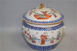 19th C. Chinese Porcelain Famille Rose Soup Bowl