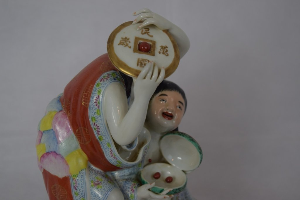 Chinese Famille Rose Two Boy Figure - 5