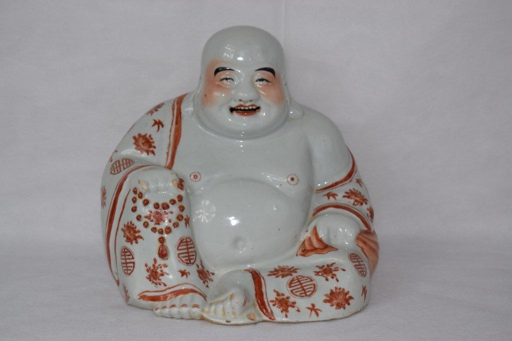 Chinese Iron-Red Buddha with Marking