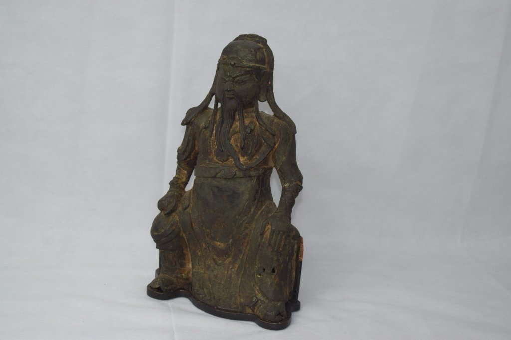 Ming Dynasty Chinese Bronze Guangong Statue
