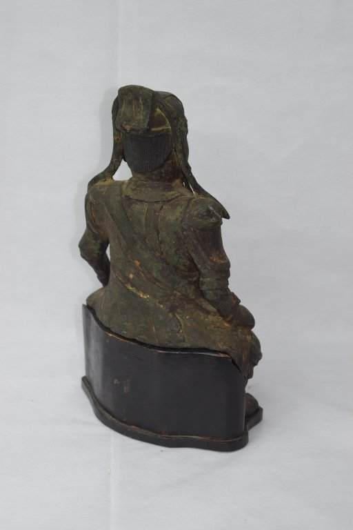 Ming Dynasty Chinese Bronze Guangong Statue - 4