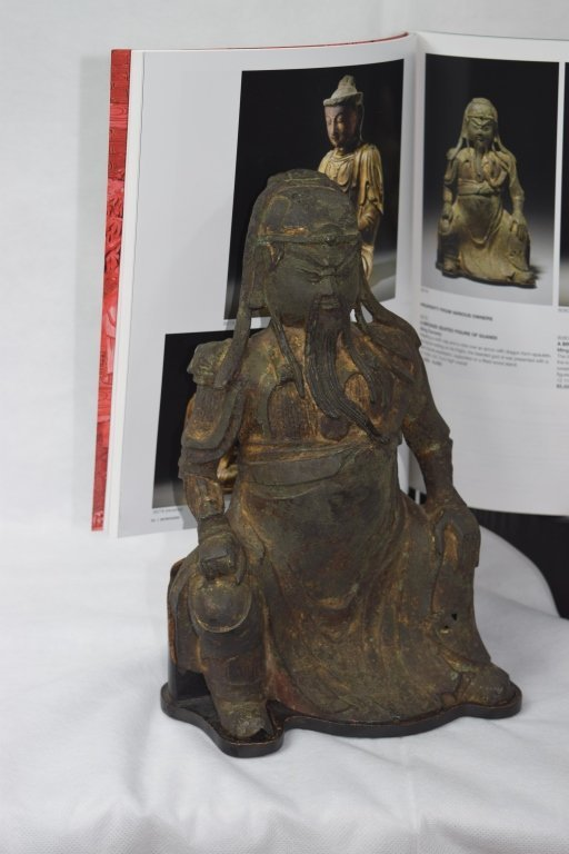 Ming Dynasty Chinese Bronze Guangong Statue - 6