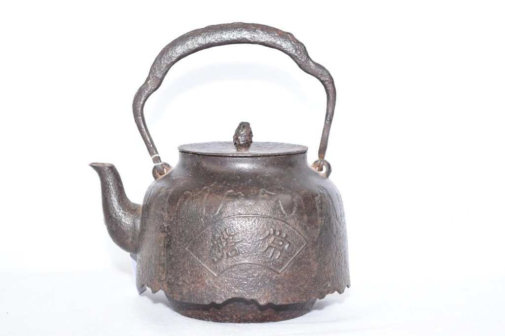 19th-20th C. Japanese Metal Teapot, Marked