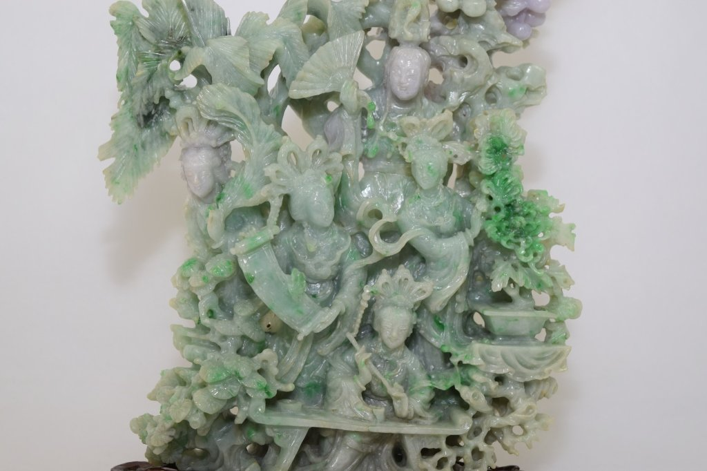 Large 20th C. Chinese Jadeite Carving - 2