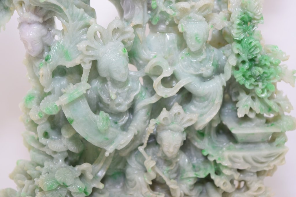 Large 20th C. Chinese Jadeite Carving - 3