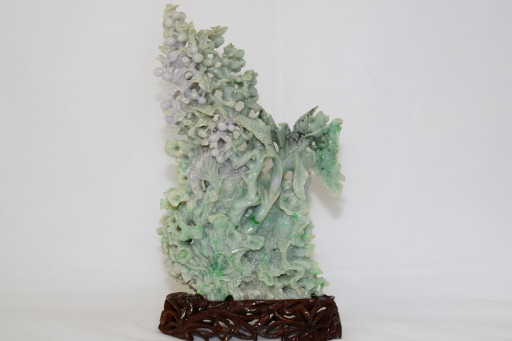 Large 20th C. Chinese Jadeite Carving - 5