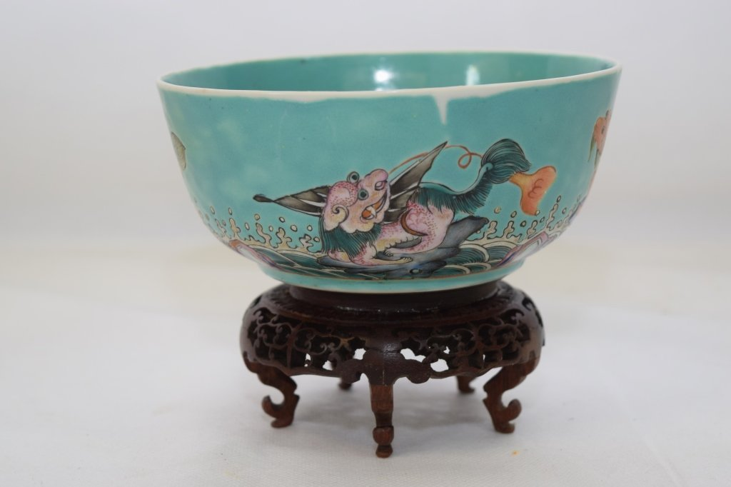 19th C. Chinese Famille Rose Bowl, DaoGuang Mark