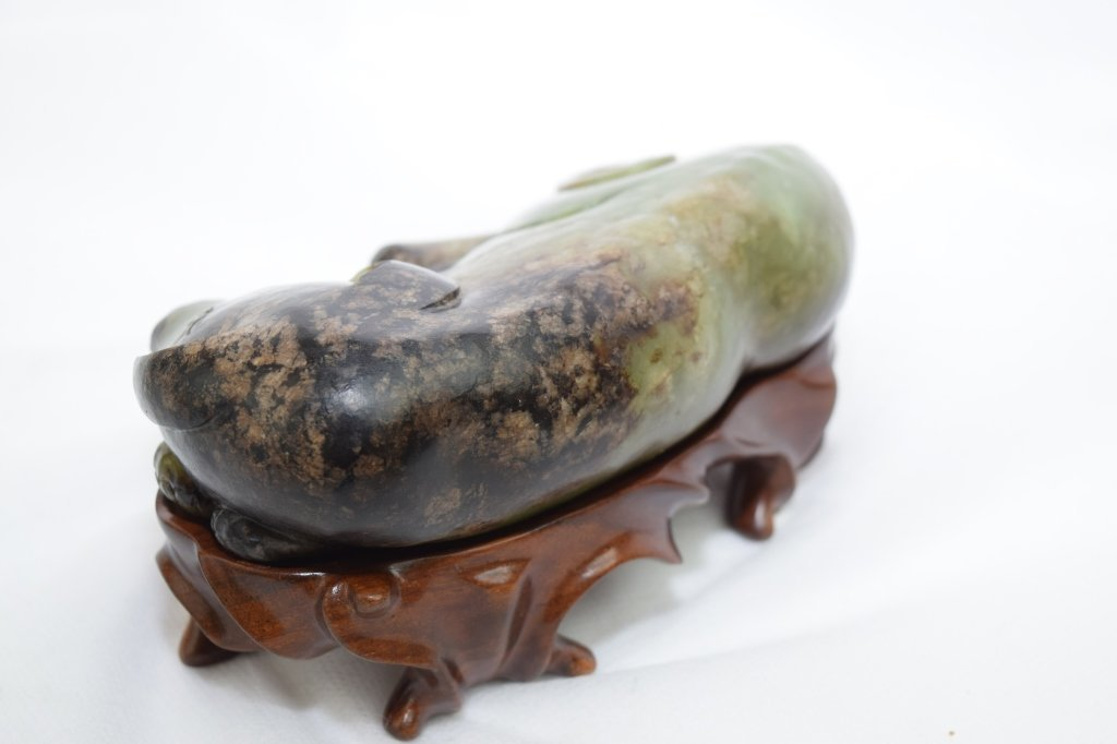 Late Ming-Qing Dynasty Chinese Jade Carved Dog - 3