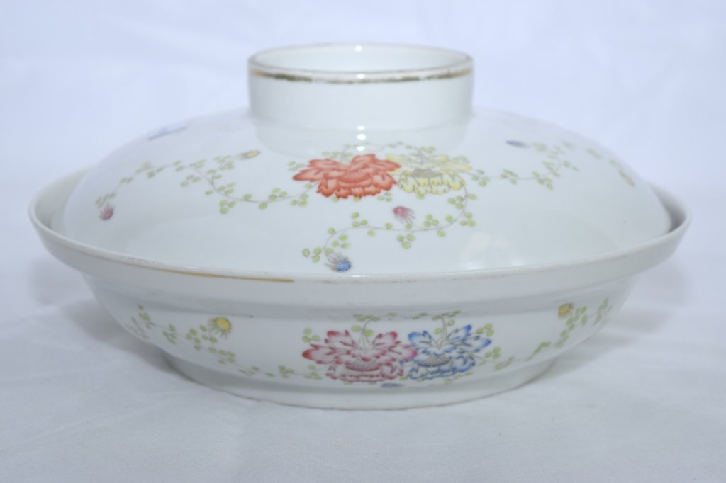 Chinese Republic Famille Rose Covered Bowl