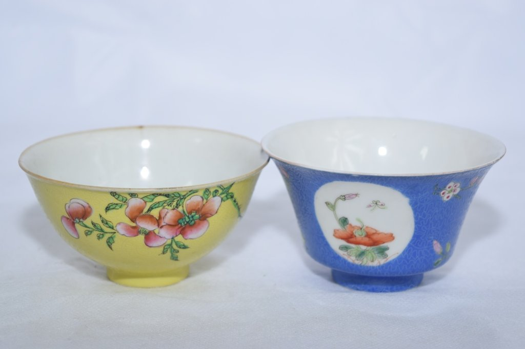 Chinese Republic Period Famille Rose Bowls