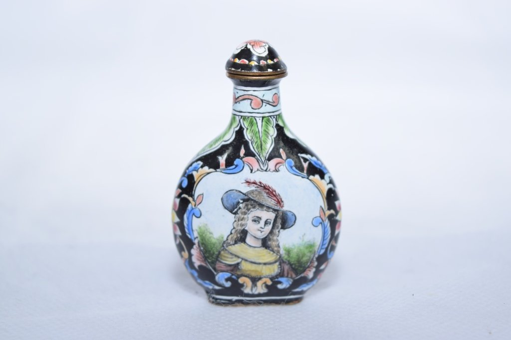 Chinese Republic Enamel over Bronze Snuff Bottle