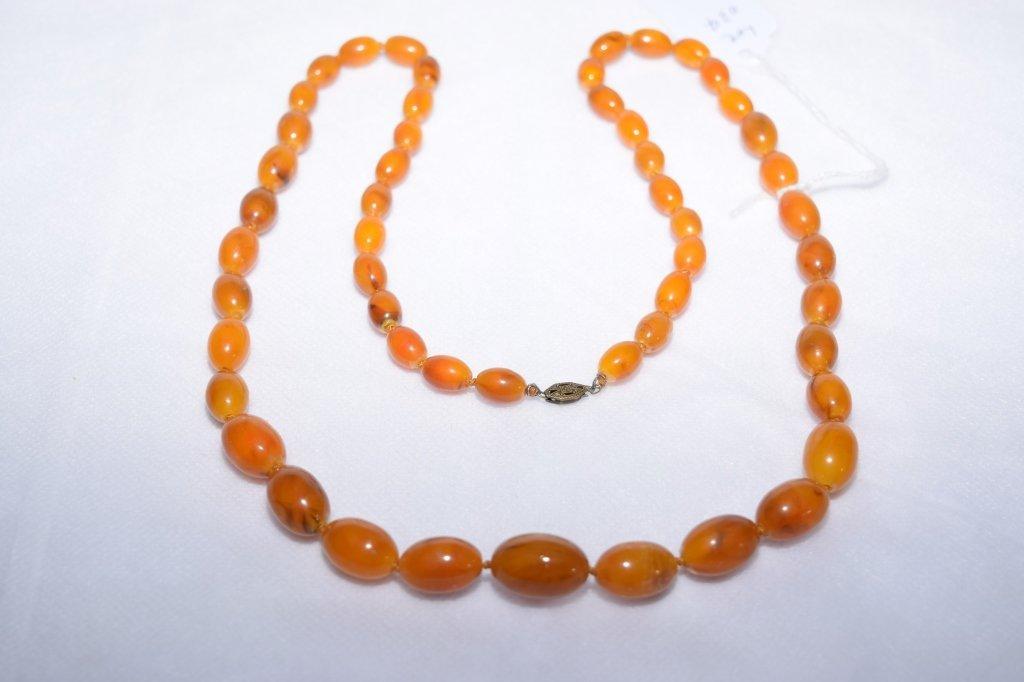 Natural Egg Yolk Butterscotch Amber Necklace