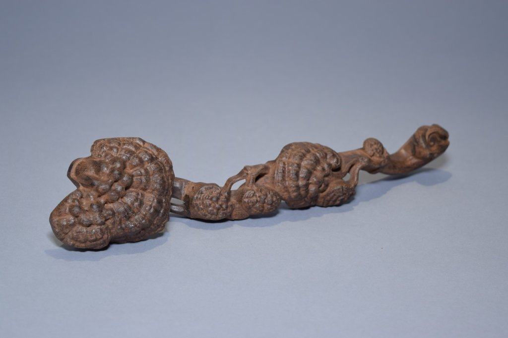 Chinese Chenxiang Wood Carved Ruyi
