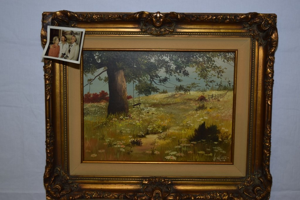 Landscape Painting on Canvas, signed Jenkins