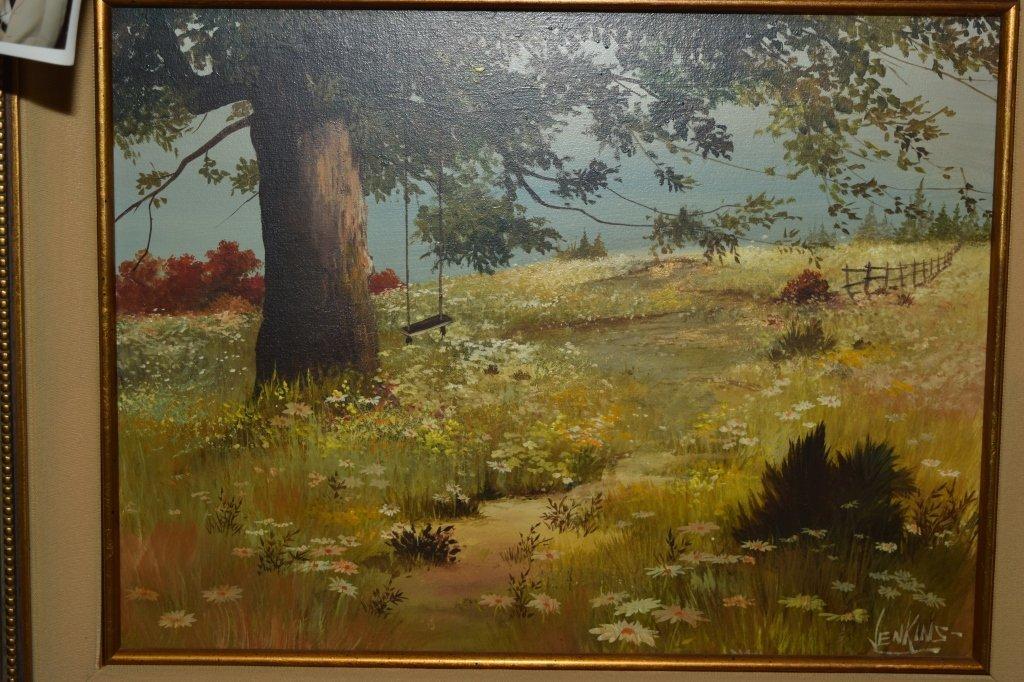 Landscape Painting on Canvas, signed Jenkins - 2