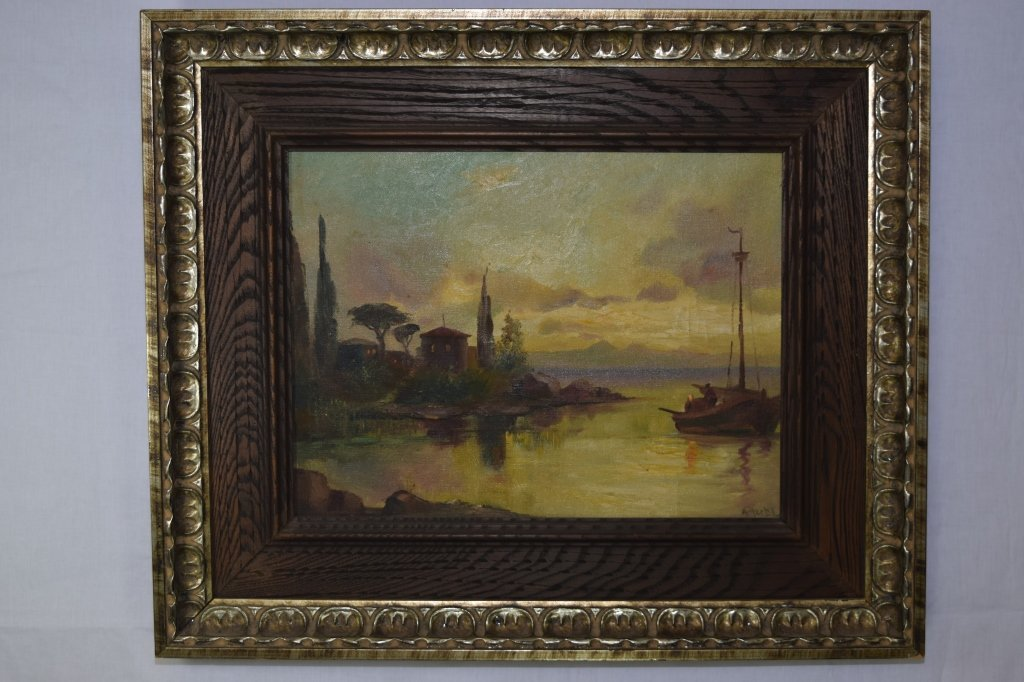 Landscape on Canvas, signed A. Herbe (French)