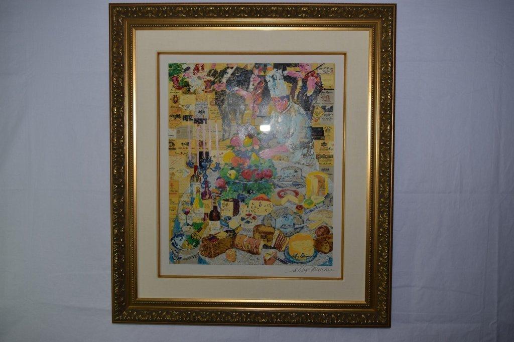 """""""La Cuisine Francaise"""" Serigraph by Leroy Neiman"""