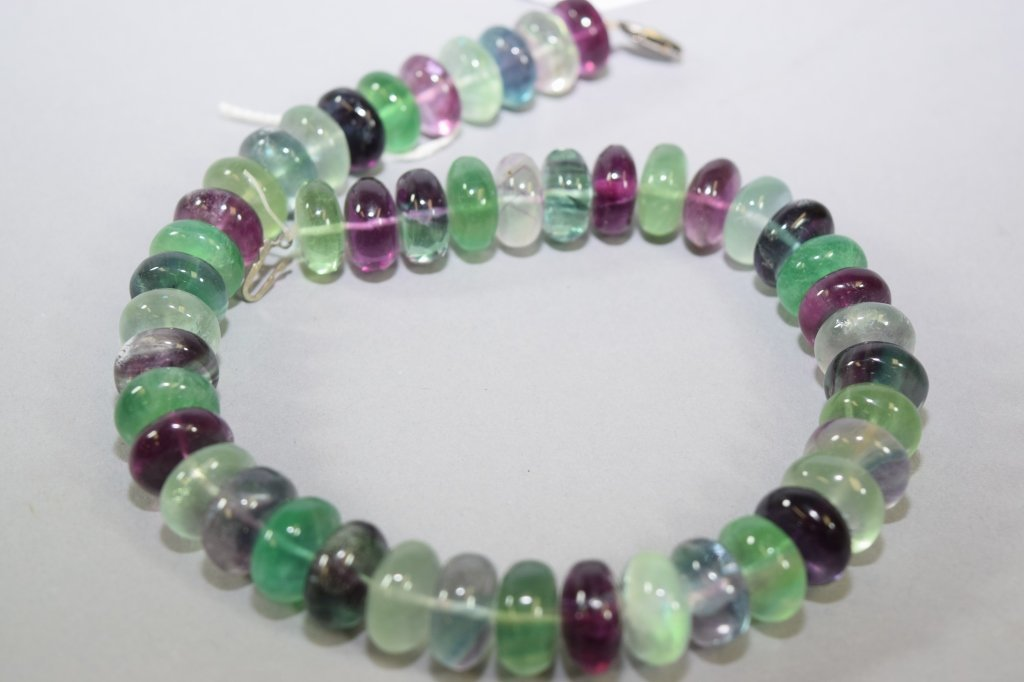Natural Multi-Colored Crystal Necklace - 2