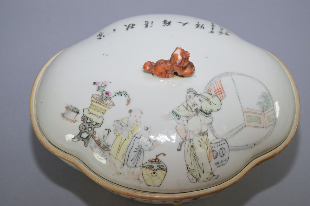 Early Republic Chinese Famille Verte Bowl, Marked - 2