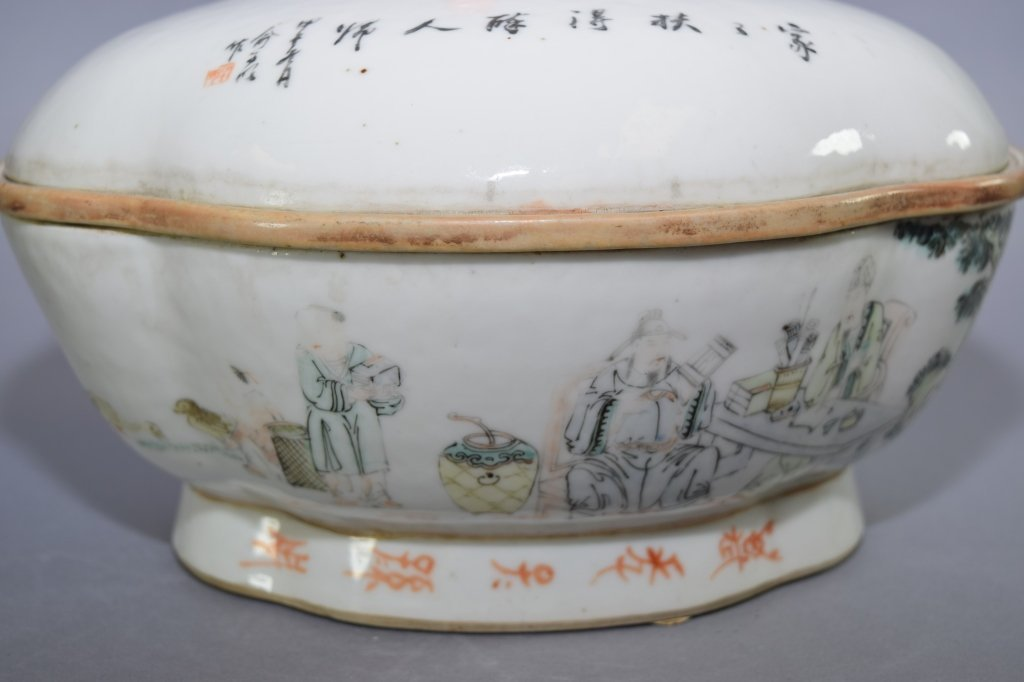 Early Republic Chinese Famille Verte Bowl, Marked - 4