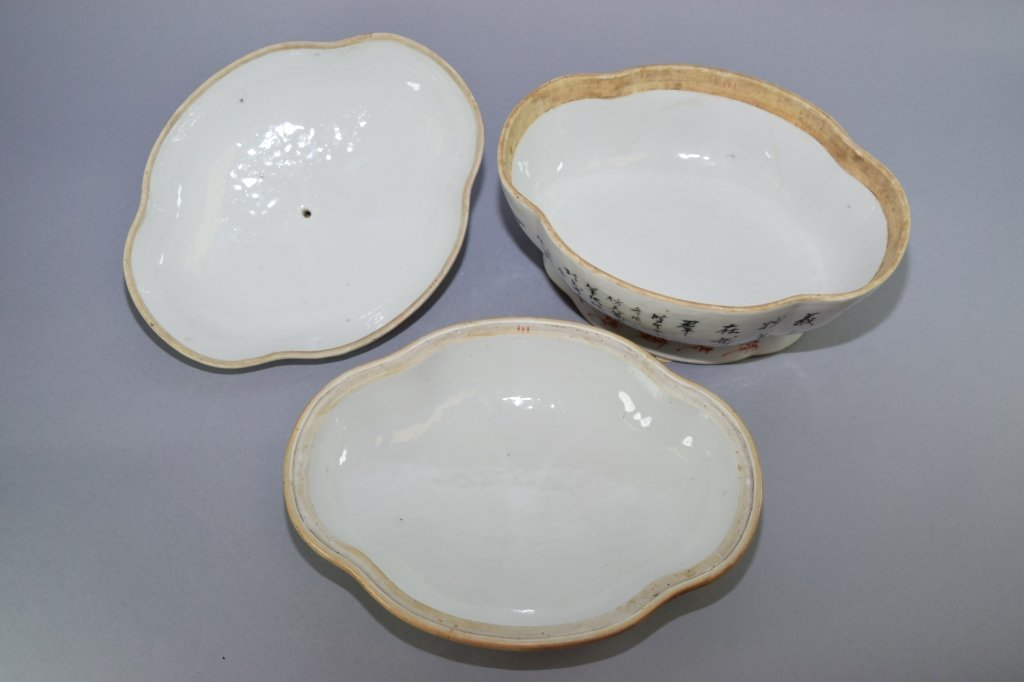 Early Republic Chinese Famille Verte Bowl, Marked - 7