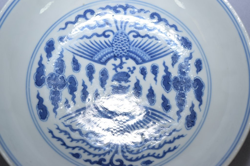 Qing Qianlong Chinese Blue and White Plate, Marked - 2
