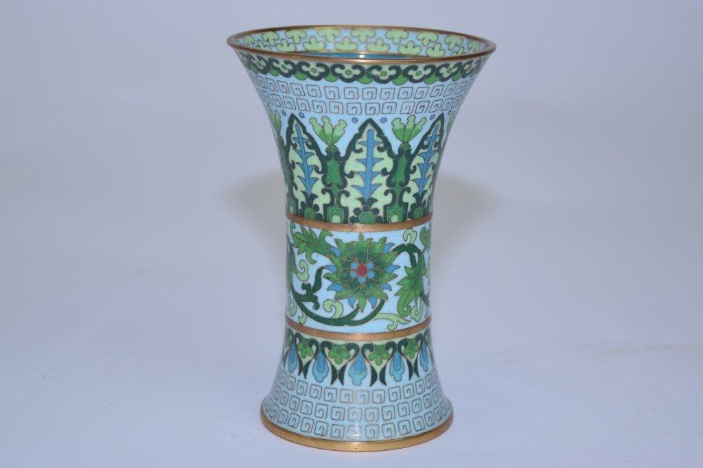 Chinese Cloisonne Gu Vase