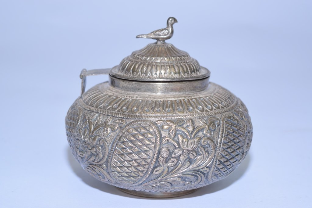 Silver Covered Jar