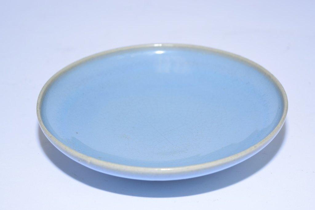 Yuan-Ming Chinese Jun Glaze Plate