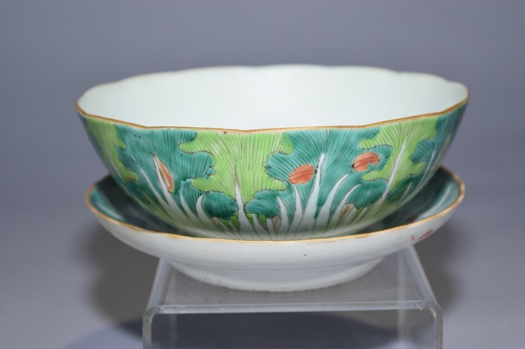 Republic Chinese Famille Rose Bowl and Plate