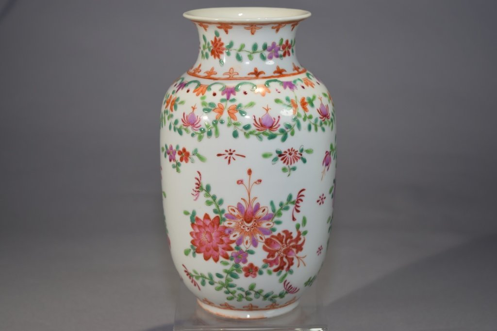 19th C. Chinese Famille Rose Export Vase