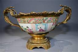 19th C Chinese Famille Rose Medallion Bowl