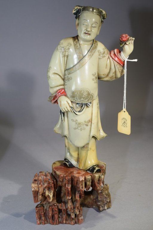 18th C. Chinese Soapstone Carved Young Boy