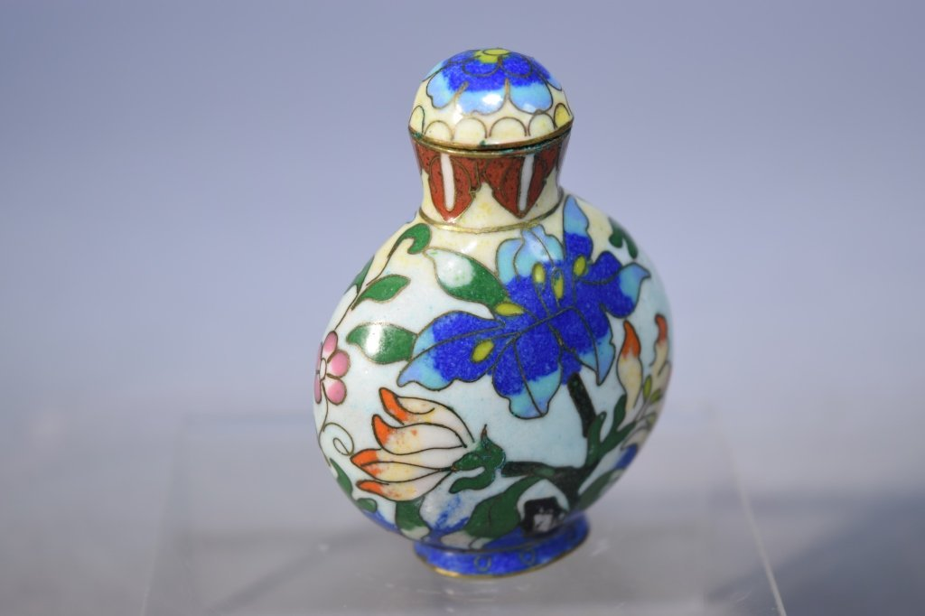 20th C. Chinese Cloisonne Snuff Bottle