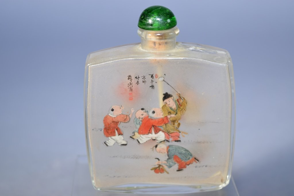 20th C. Chinese Reverse Painted Snuff Bottle