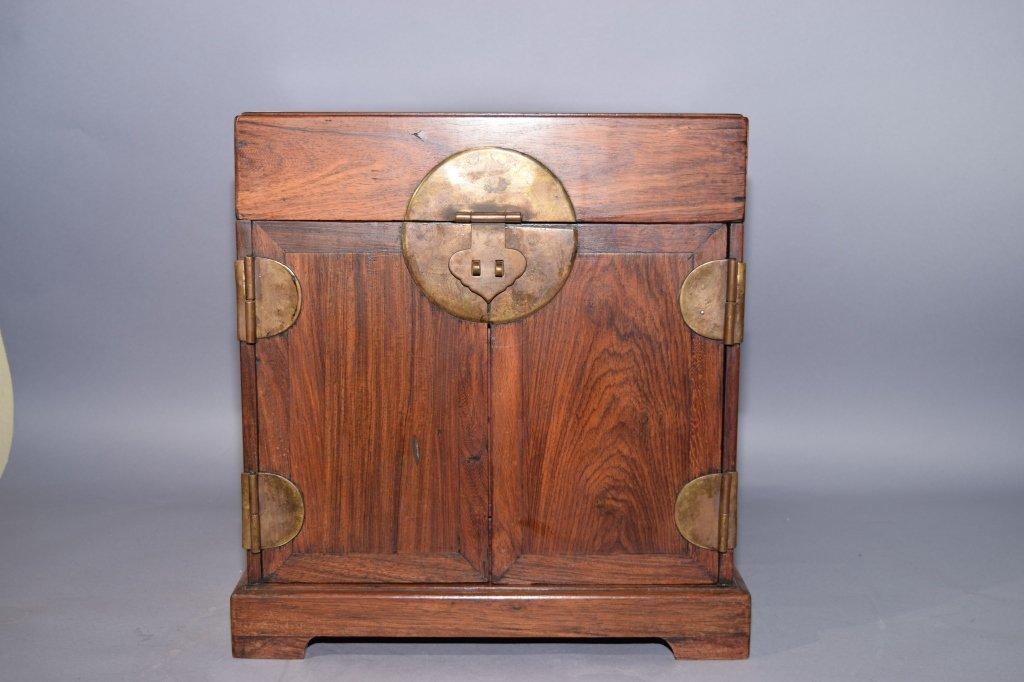 Qing Chinese Huanghuali and Hongmu Box