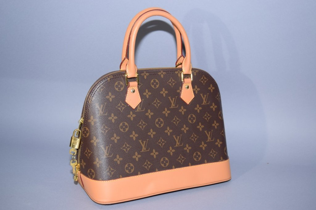 Louis Vuitton Style Handbag with Lock and Key