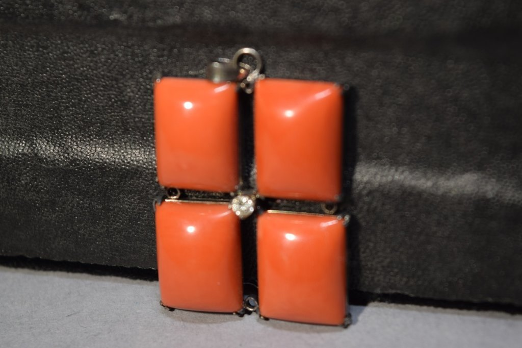 Four Piece Coral Pendant