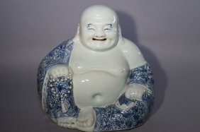 Qing Chinese Blue And White Buddha
