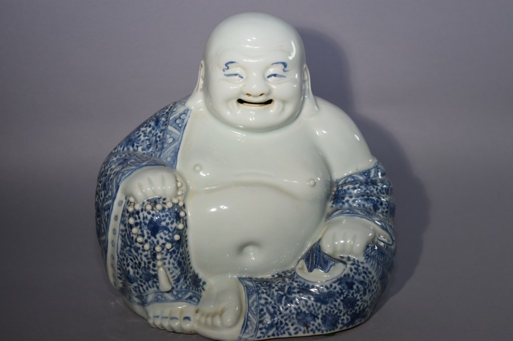 Qing Chinese Blue and White Buddha