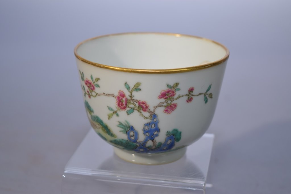 19th C. Chinese Famille Rose Tea Cup