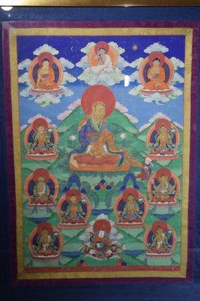 18th C. Chinese Tibetan Thangka