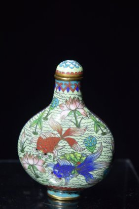 Qing Chinese Cloisonne Snuff Bottle