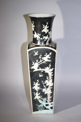 Large Chinese Famille Noir Vase