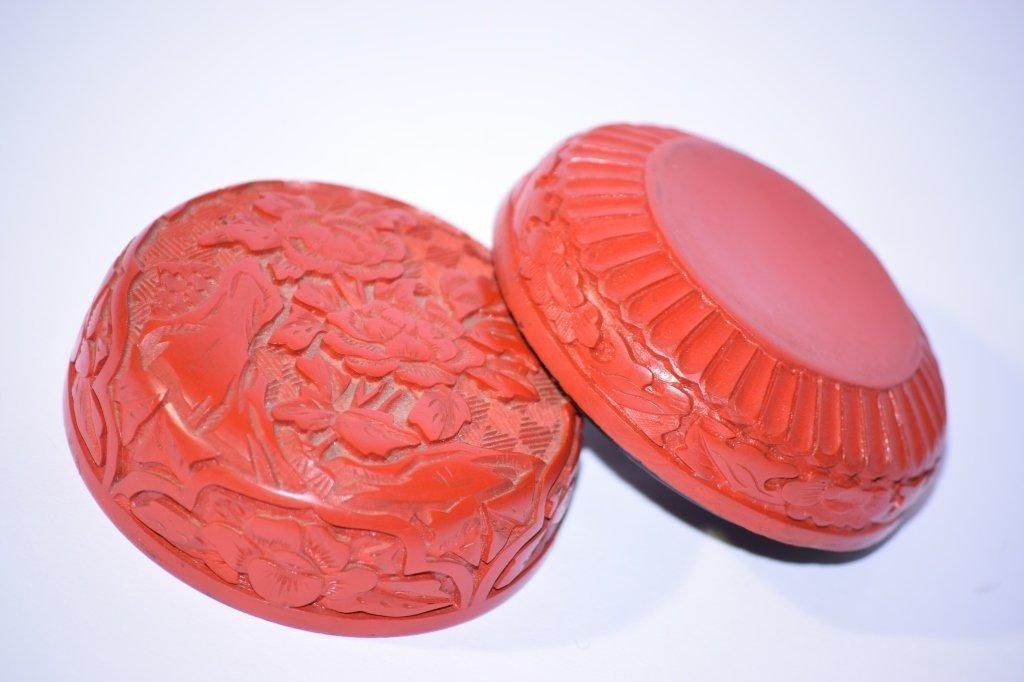 Chinese Cinnabar Stamp Ink Box - 2