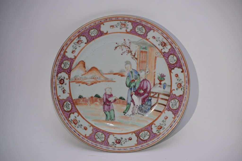 18th C. Chinese Export Famille Rose Plate