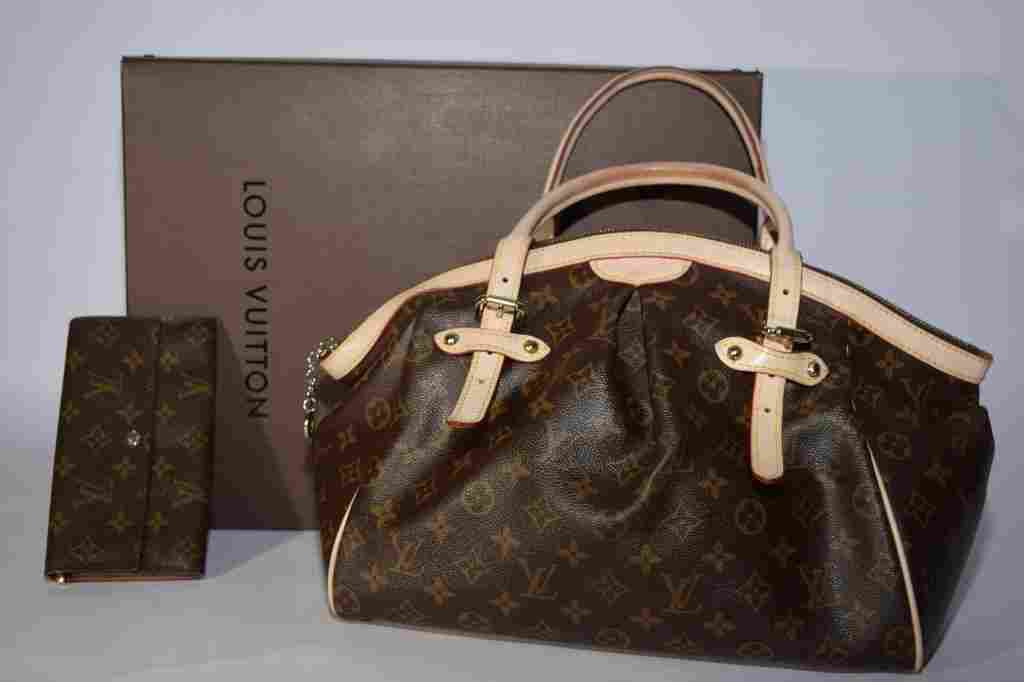 Louis Vuitton Style Tivoli Handbag and Wallet